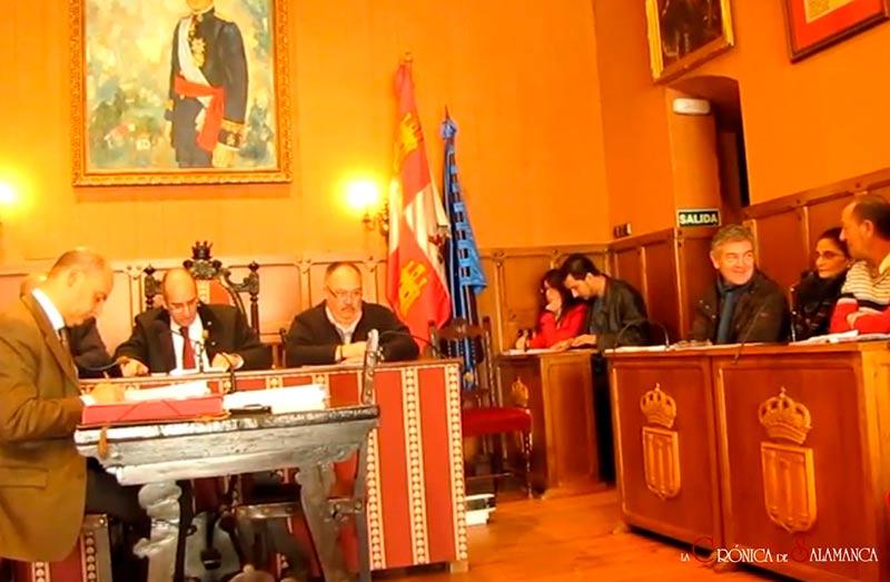 pleno municipal en Ciudad Rodrigo