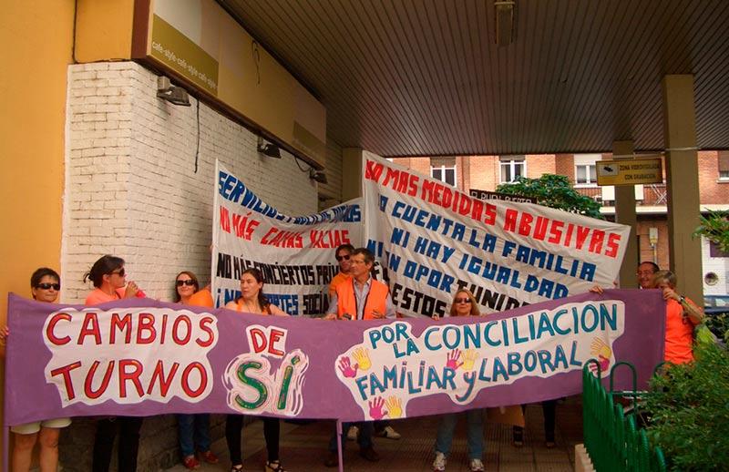 servicios sociales protesta
