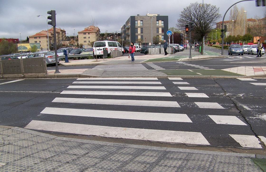 paso de peatones rebajado