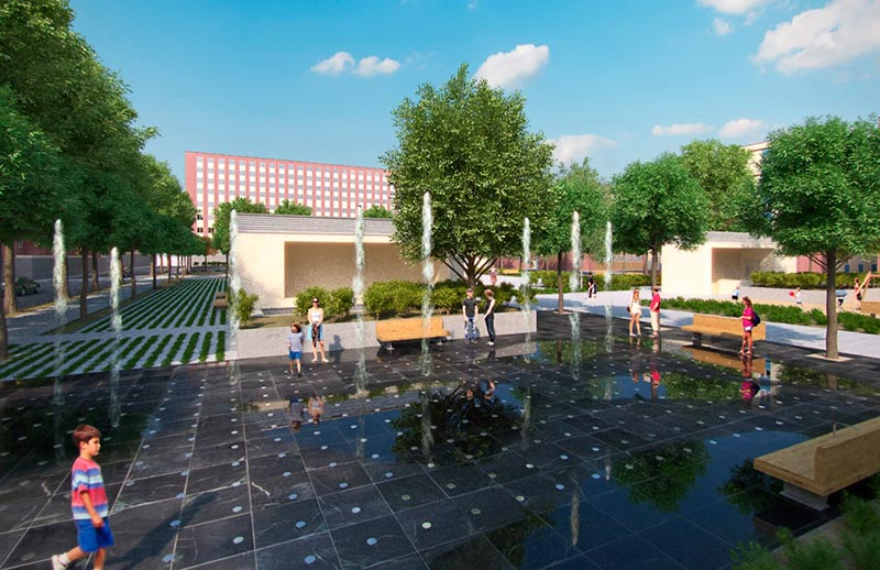La maqueta de la fuente del nuevo parque de Garrido.