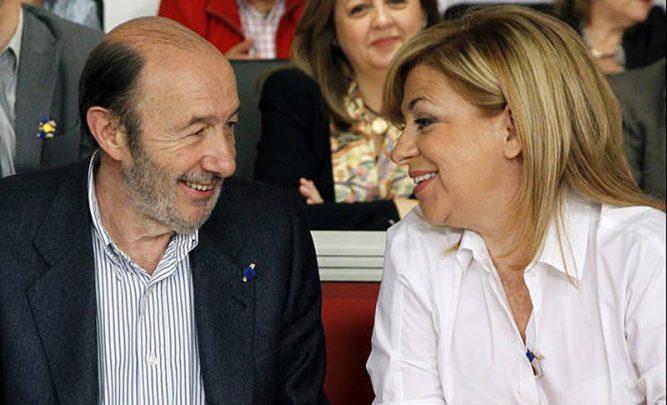Elena Valenciano y Alfredo Pérez Rubalcaba