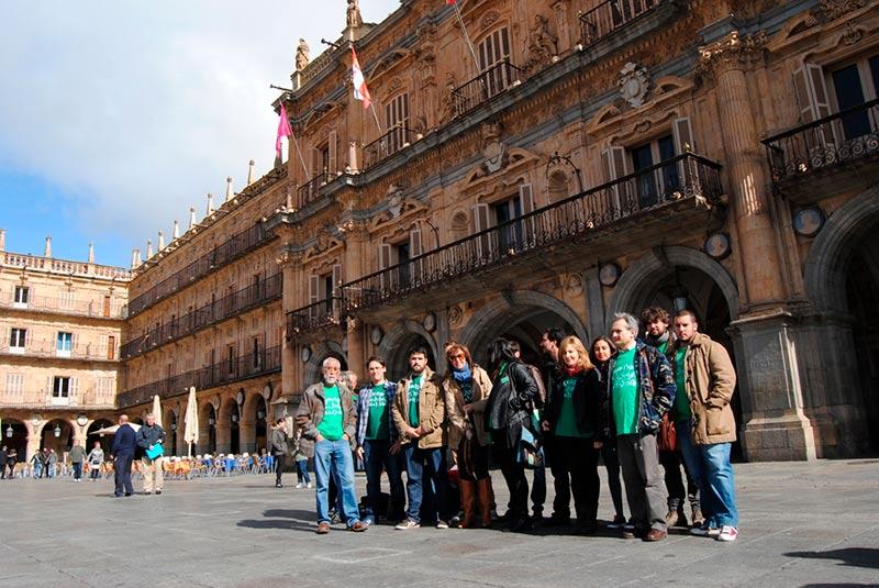 Integrantes del Movimiento por la Defensa de la Escuela Publica en Salamanca.