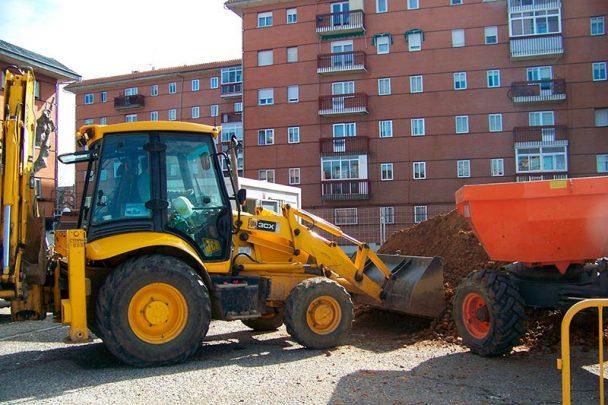 máquina de construcción y obras