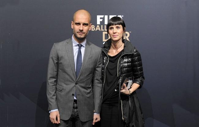 Pep Guardiola y Cristina Serra