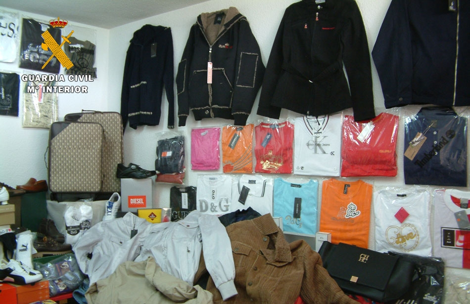 ropa falsificada