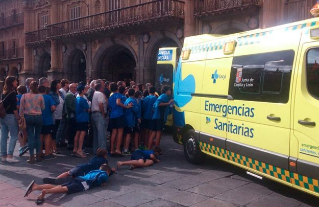 infarto en la plaza mayor