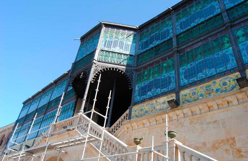 casa lis andamios fachada sur