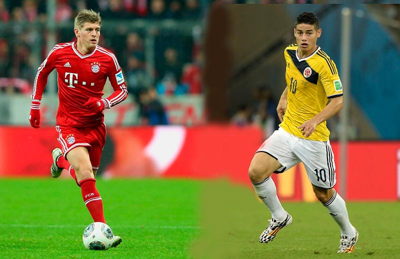 kroos y james rodiguez