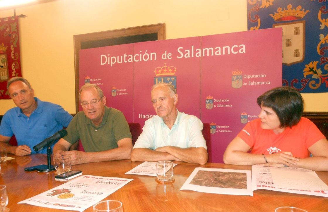 El alcalde de Lumbrales, Pedro Sánchez, segundo por la derecha.