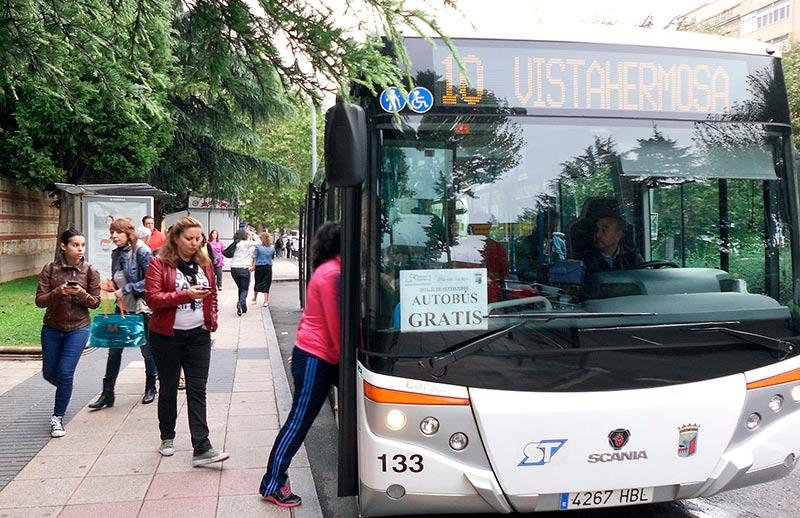 Los usuarios del autobús no tendrán que pagar.