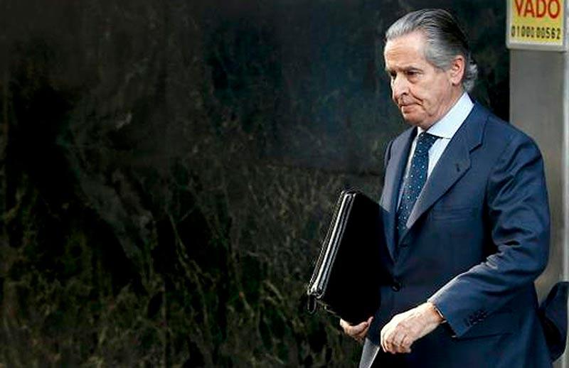 El expresidente de Caja Madrid Miguel Blesa llega a la Audiencia Nacional.