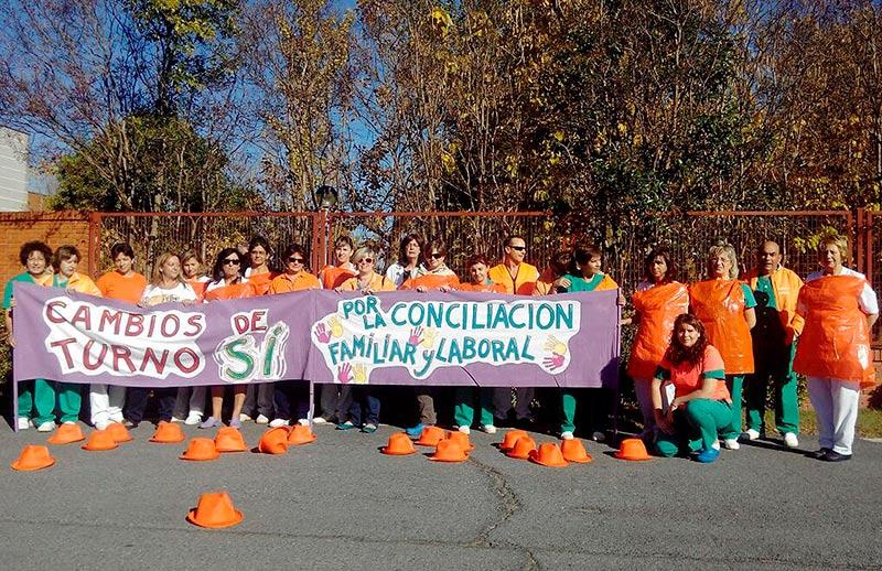 Los trabajadores sociales volvieron a protestar este miércoles.