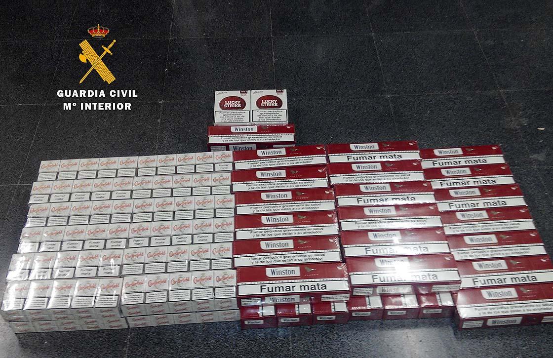 El tabaco de contrabando intervenido.