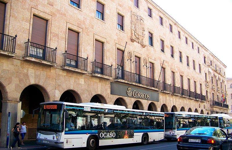 La sede central de Correos en la Gran Vía.