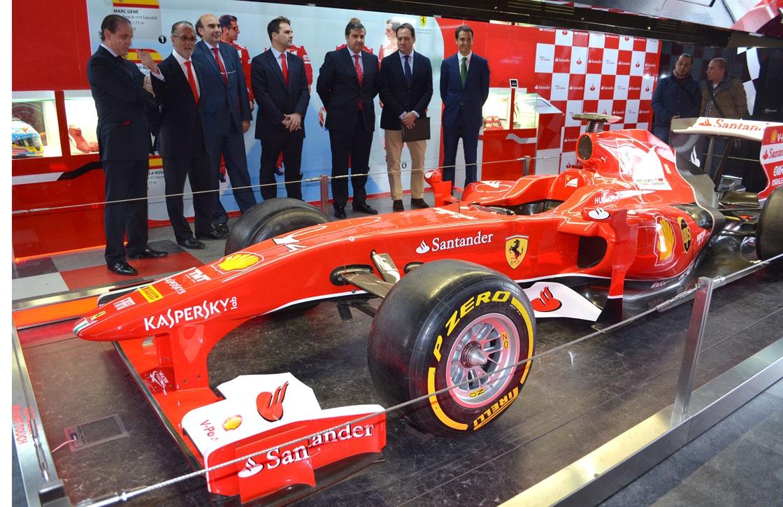 La réplica del Ferrari de Fernando Alonso.