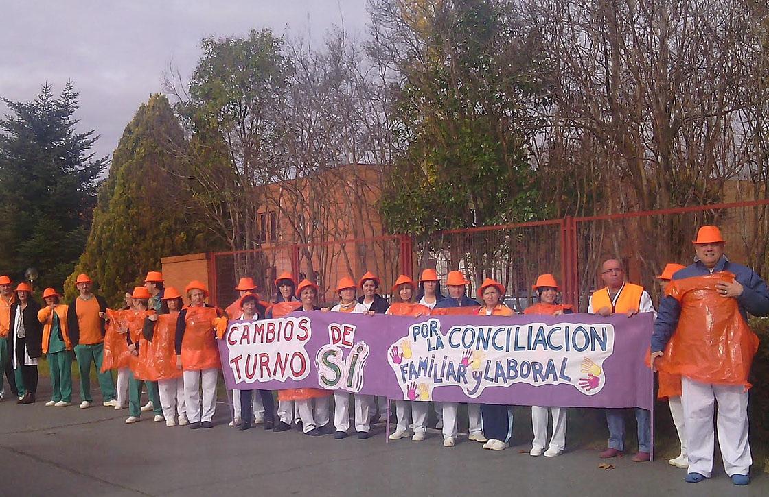 Los trabajadores de servicios sociales volvieron a protestar este miércoles.