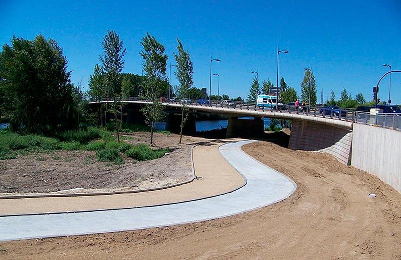 ribera rio tormes aldehuela y puente juan carlos I potabilizadora