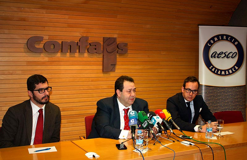 Emilio Checa, Benjamin Crespo y Alfonso Barbero Aesco comercio