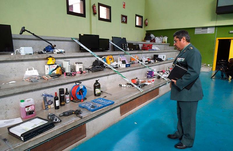guardia civil banda robo pisos