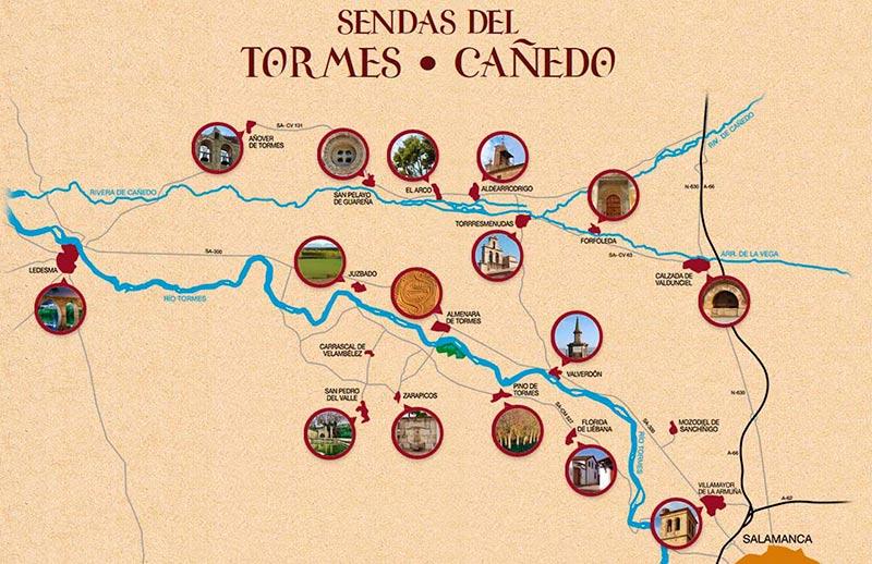 El plano de los municipios que participan en esta iniciativa.