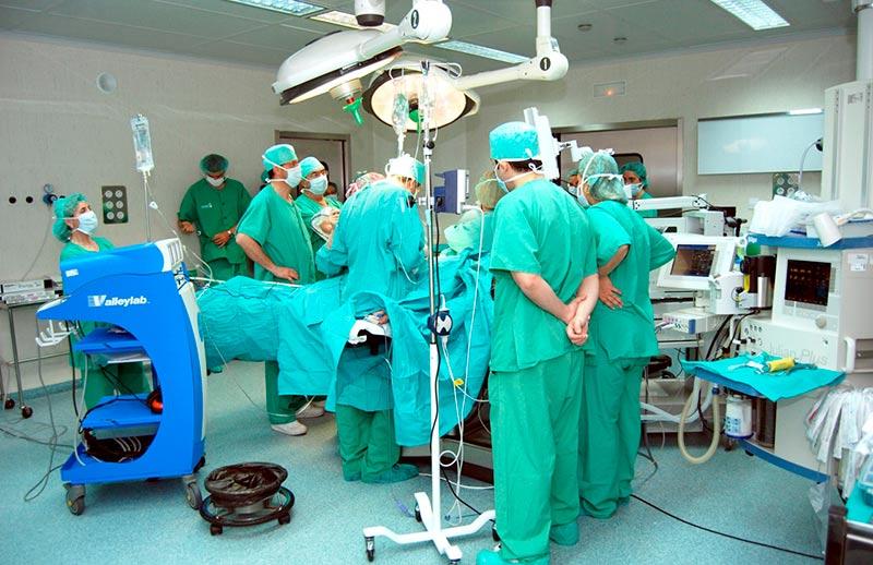 Una intervención quirúrgica.