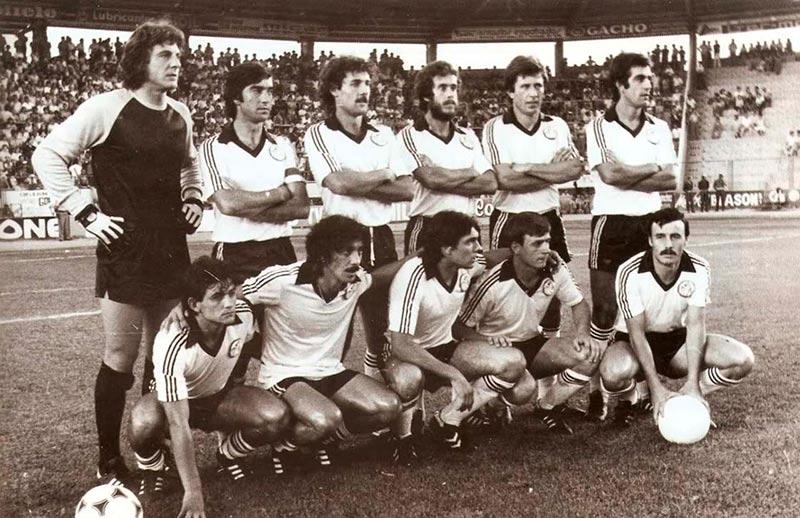 Una lineación de la UDS en la temporada 1980/81.