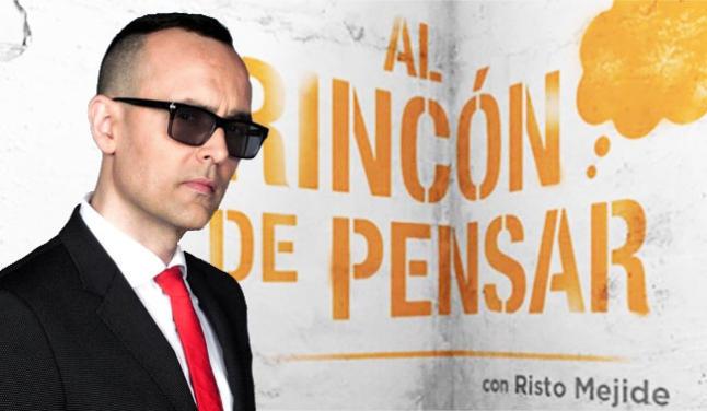 Risto Mejide presenta en Antena 3 El Rincón de Pensar.