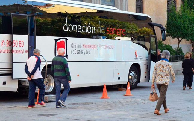 Donantes de sangre autobus