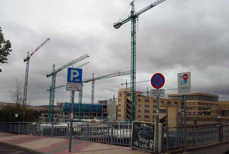 Las obras del nuevo hospital, hace una semana.