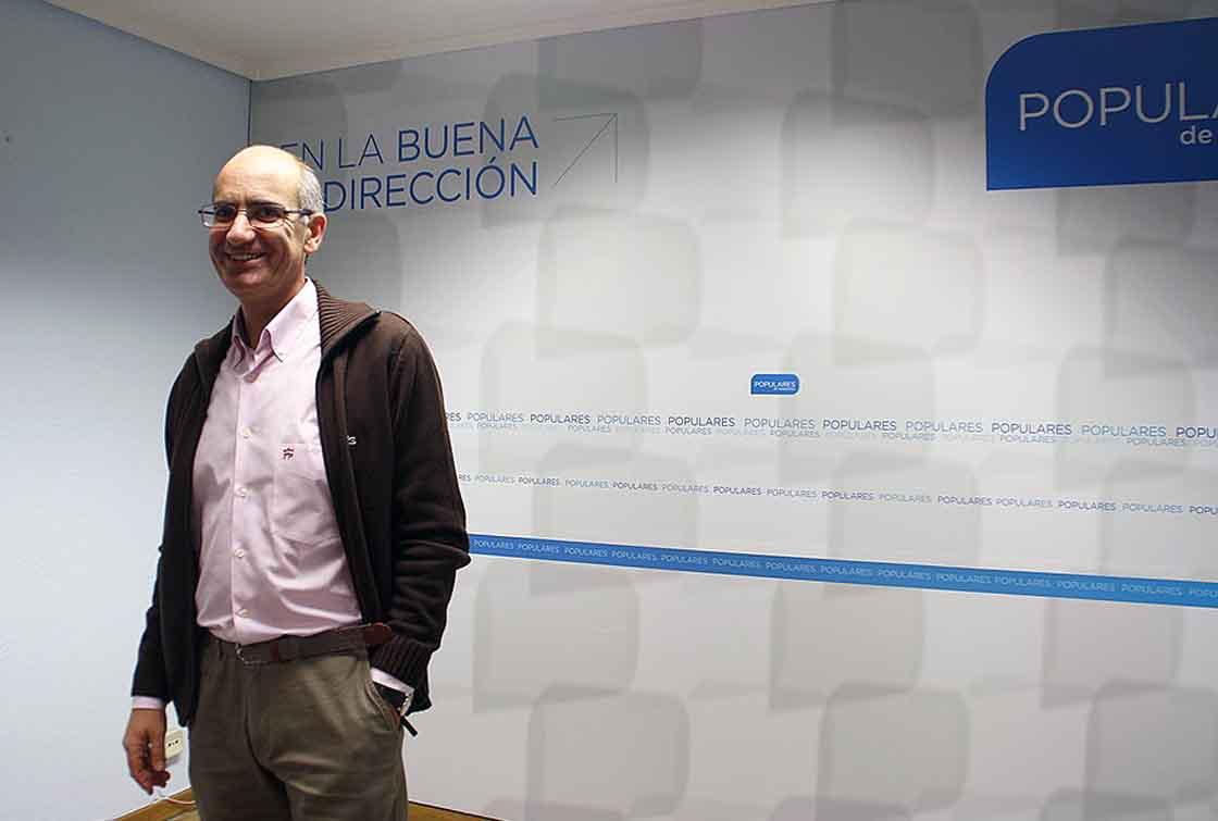 El presidente del PP de Salamanca, Javier Iglesias, este martes,
