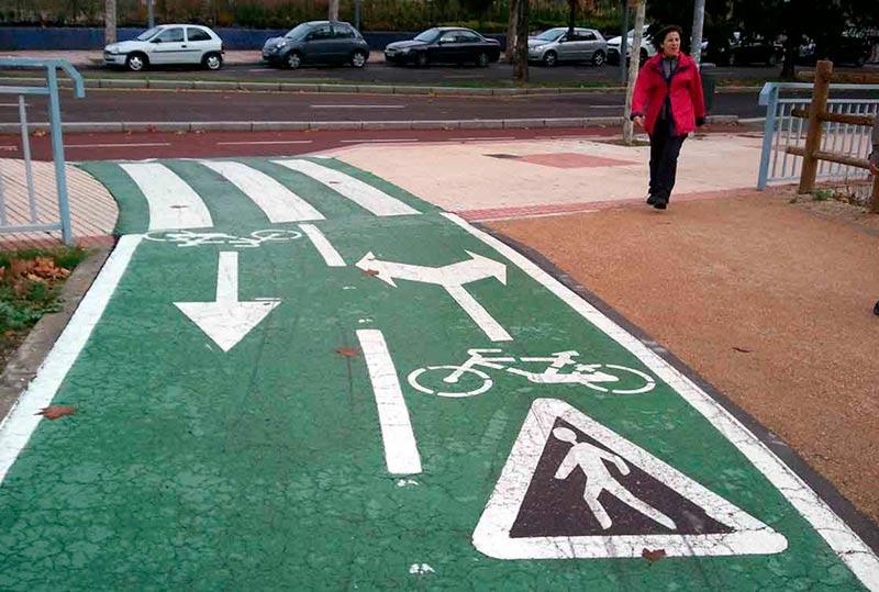 Un tramo del carril bici de Salamanca.