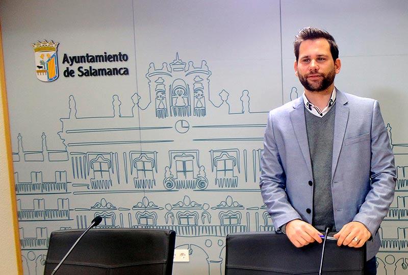 El portavoz de Ciudadanos en el Ayuntamiento, Alejandro González.