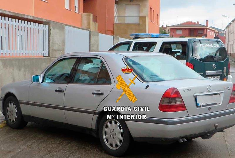 El vehículo utilizado por los ladrones.