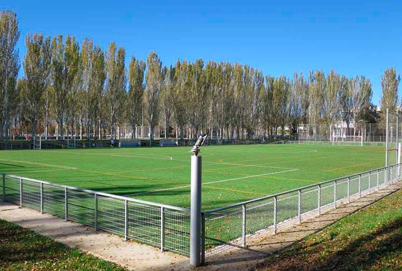 Un campo de fútbol de la ciudad deportiva de La Aldehuela.