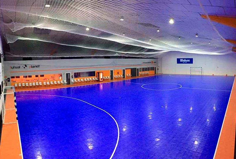 La cancha de Futsal Planet.