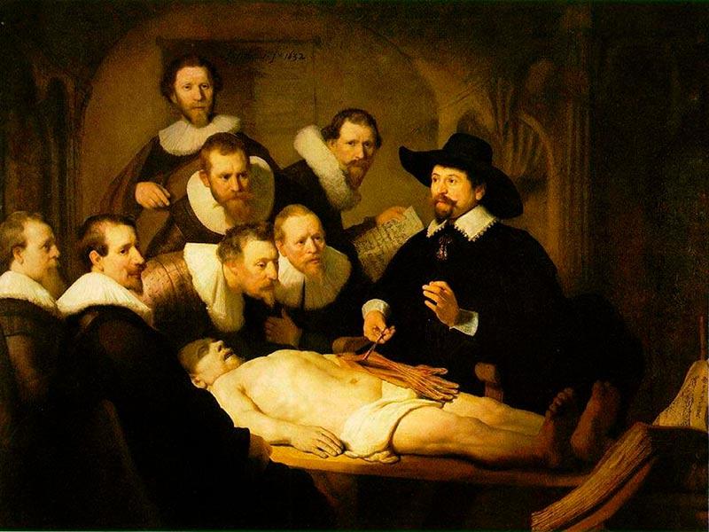 S11  ARQUIVO  24-06-2010   ECONOMIA   Pintura Lição de Anatomia, de Rembrandt  FOTO REPRODUCAO