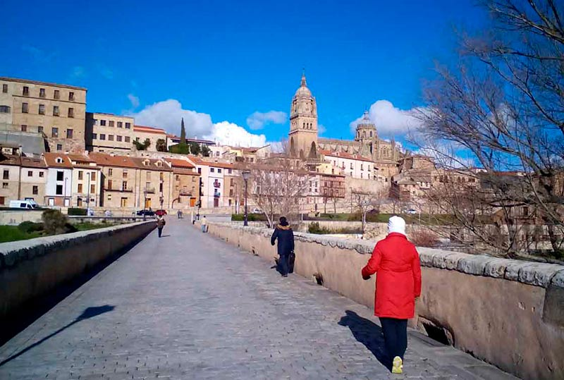 El Puente Romano, este jueves por la tarde.