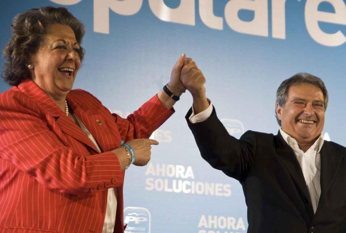 Rita Barberá y Alfonso Rus.