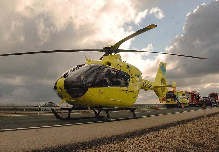 Un herido en un accidente de quad en Miranda de Azán evacuado en helicóptero.