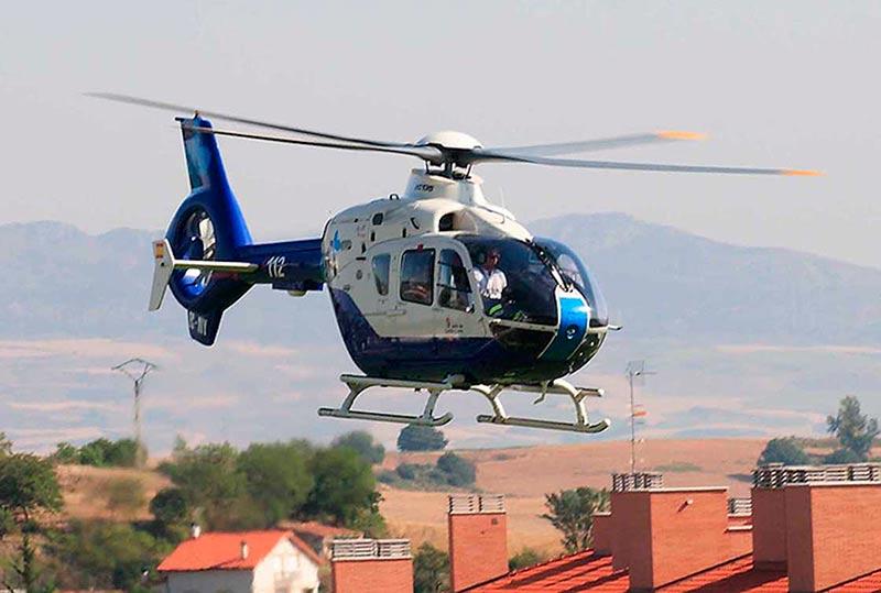 La víctima fue evacuada al hospital en el helicóptero del 112.