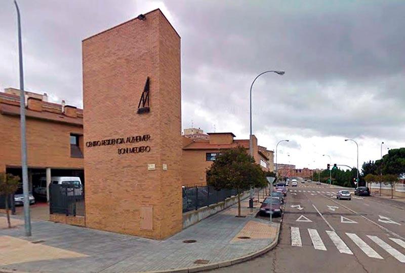 La calle Babia, junto a la residencia del Alzheimer.
