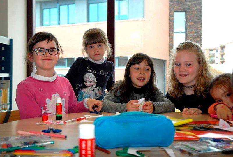 Niños en el taller.
