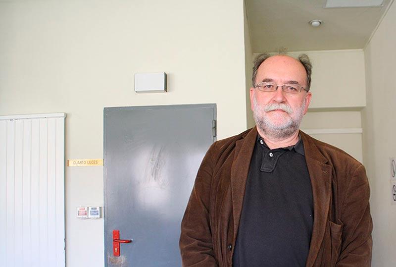 Carlos Taibo, en la Facultad de Geografía e Historia de Salamanca.