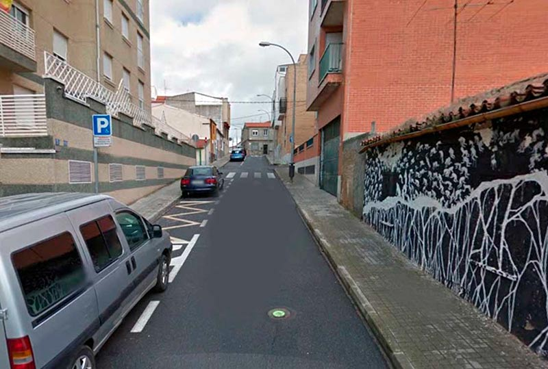 El detenido fue localizado en la calle General Albertos, en Pizarrales.