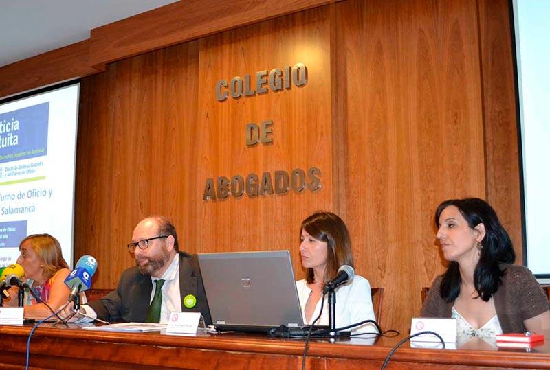 Fernando Dácila explica el balance de la justicia gratuita en Salamanca.