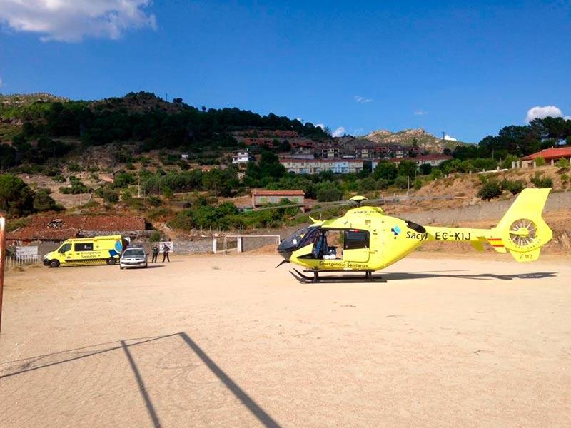 El helicóptero del Sacyl de Salamanca es desde este miércoles 31 amarillo, como los otros dos de Castilla y León y las ambulancias.