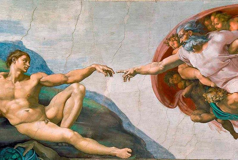 La Creación, un detalle de la obra de Miguel Ángel en la capilla Sixtina.
