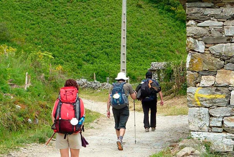 viaje camino santiago Peregrinos