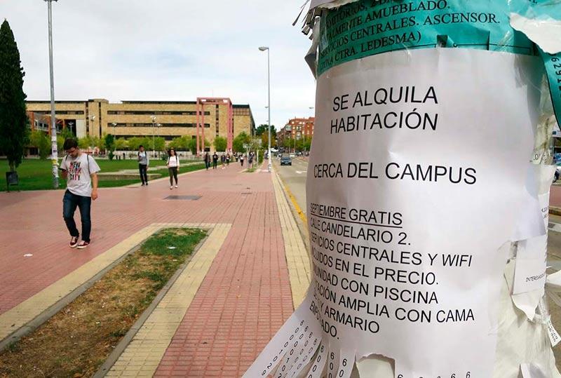 Los universitarios son los principales demandantes de pisos en alquiler.