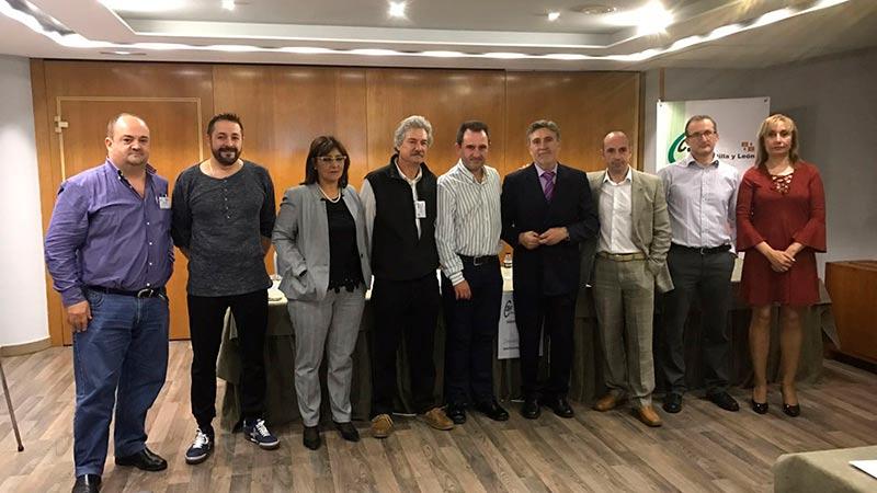 El comité ejecutivo del sector autonómico de Entidades  Públicas del Estado (EPE) de Castilla y León, elegido en el congreso constituyente este martes.